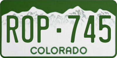 CO license plate ROP745