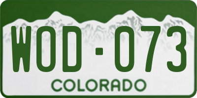 CO license plate WOD073
