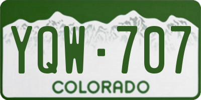 CO license plate YQW707
