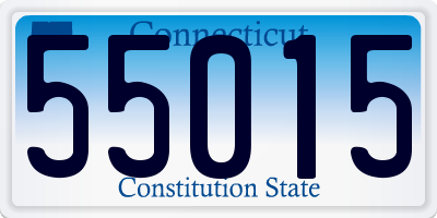 CT license plate 55015