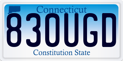 CT license plate 830UGD