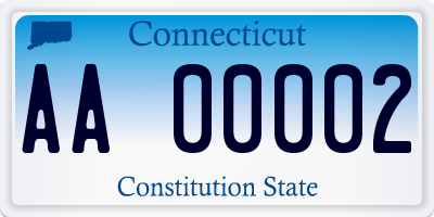 CT license plate AA00002