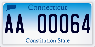 CT license plate AA00064