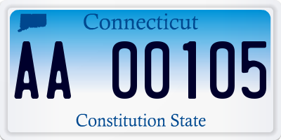 CT license plate AA00105