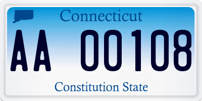 CT license plate AA00108