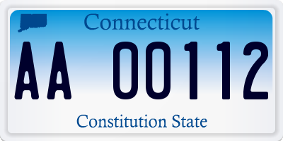 CT license plate AA00112