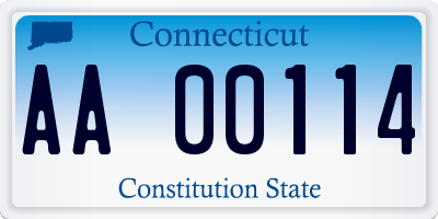 CT license plate AA00114