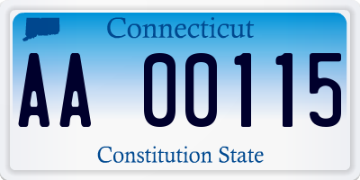 CT license plate AA00115