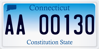 CT license plate AA00130