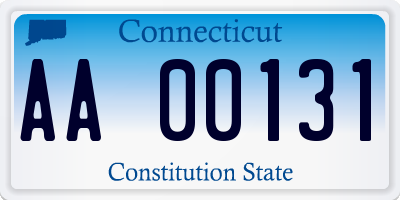 CT license plate AA00131