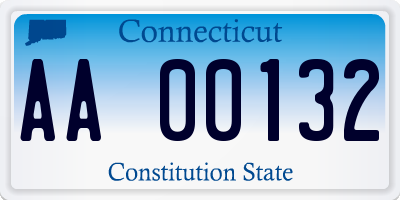 CT license plate AA00132