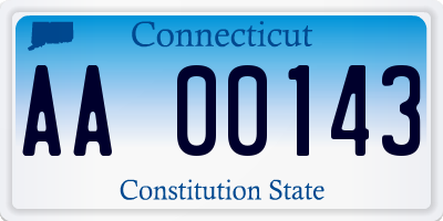 CT license plate AA00143
