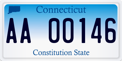 CT license plate AA00146