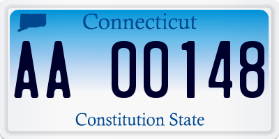 CT license plate AA00148