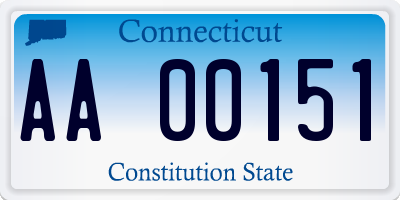 CT license plate AA00151