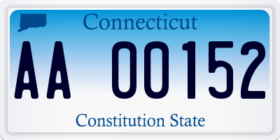 CT license plate AA00152