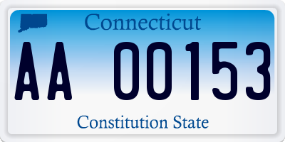 CT license plate AA00153