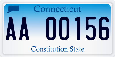 CT license plate AA00156