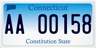 CT license plate AA00158