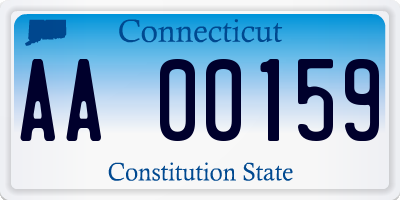 CT license plate AA00159