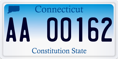 CT license plate AA00162