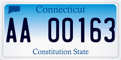 CT license plate AA00163