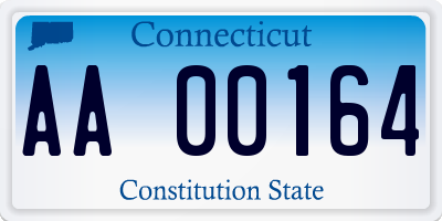 CT license plate AA00164