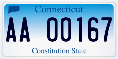 CT license plate AA00167