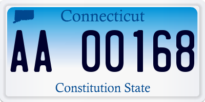 CT license plate AA00168