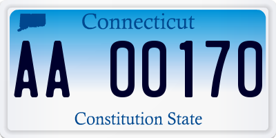 CT license plate AA00170