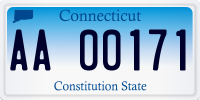 CT license plate AA00171