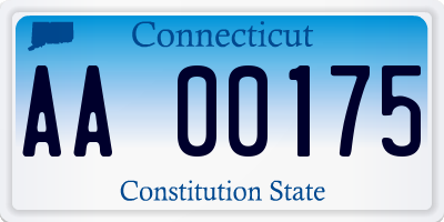 CT license plate AA00175