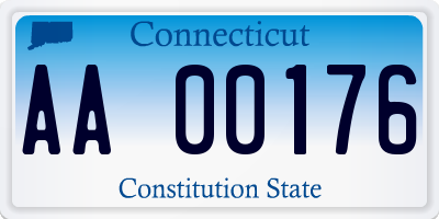 CT license plate AA00176