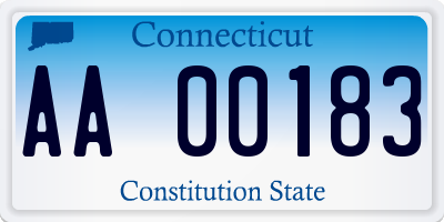 CT license plate AA00183