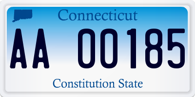 CT license plate AA00185