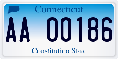 CT license plate AA00186