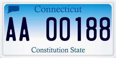 CT license plate AA00188