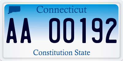 CT license plate AA00192