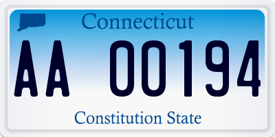 CT license plate AA00194
