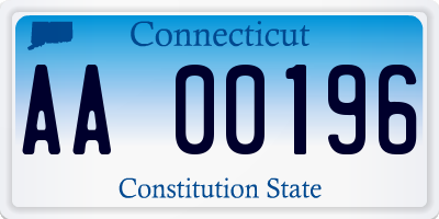 CT license plate AA00196