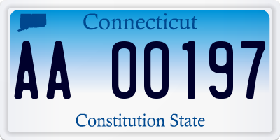 CT license plate AA00197