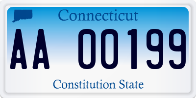 CT license plate AA00199
