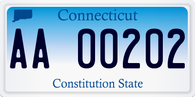 CT license plate AA00202