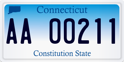 CT license plate AA00211