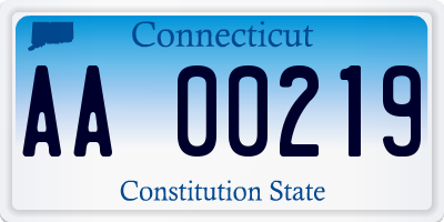 CT license plate AA00219