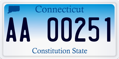 CT license plate AA00251