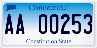 CT license plate AA00253