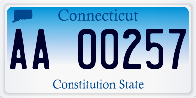 CT license plate AA00257