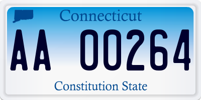 CT license plate AA00264