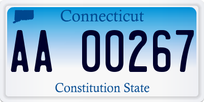 CT license plate AA00267